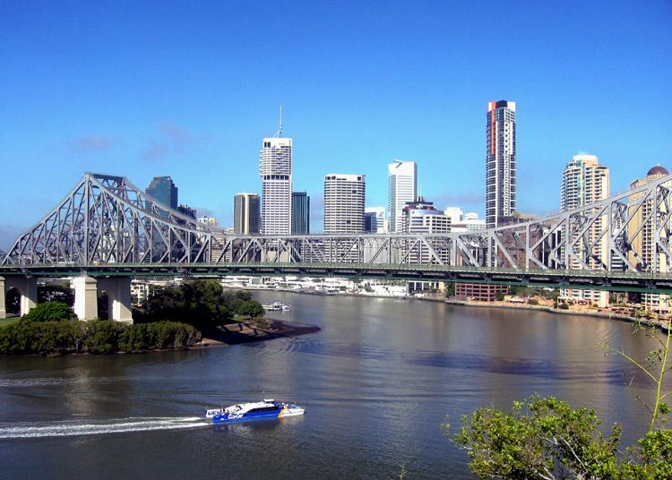 Brisbane CBD and the Story Bridge, Brisbane QLD © Stuart Edwards