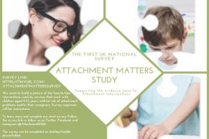 Hurry, first online UK Attachment Matters Study closing 12 June