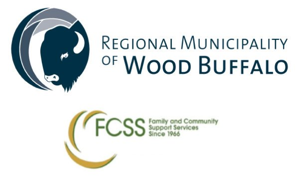 Regional Municipality of Wood Buffalo & FCSS logos