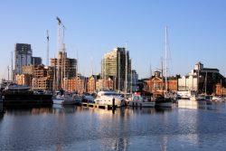 Changing skyline of Ipswich Docks © Bob Jones