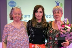 SIRCC Awards - Judith Furnivall, Louise Cushen and Edwina Grant. June 2018 © SIRCC
