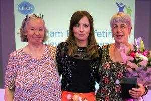 SIRCC Awards - Judith Furnivall, Louise Cushen and Edwina Grant. June 2018 © SIRCC