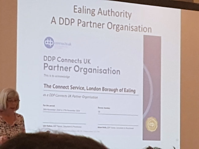 Julie Hudson presenting DDP Connects UK update