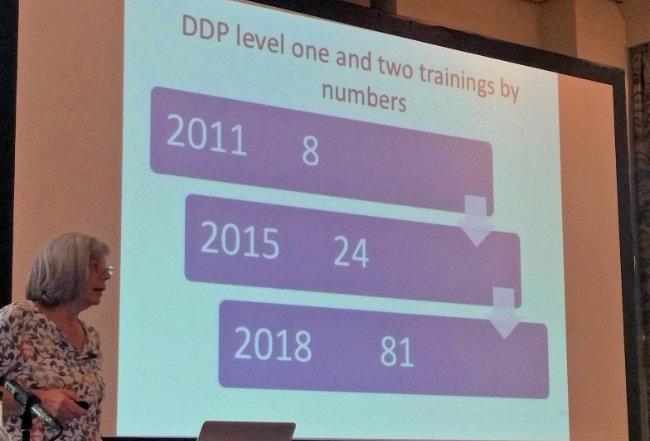 Julie Hudson presenting DDP Connects UK update