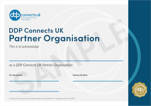 Partner Organisation Certificate sample